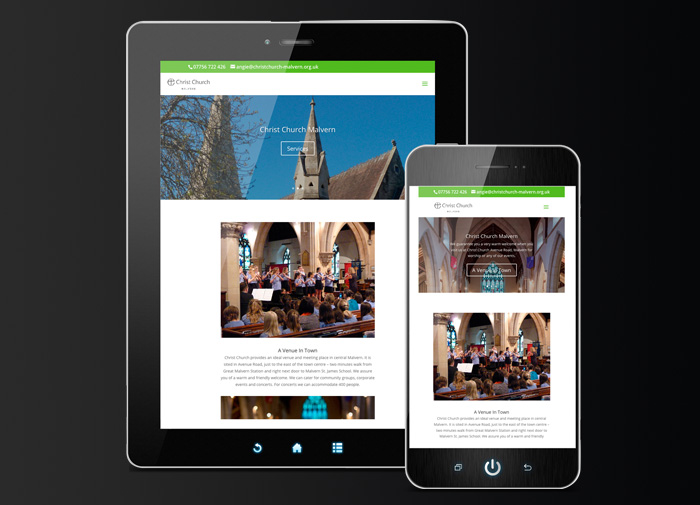 Christ Church Malvern Website Development