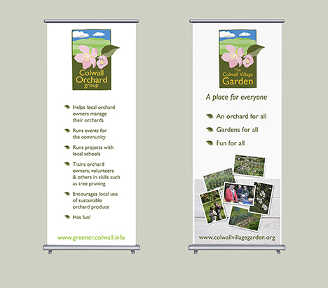 Colwall Orcahrd Group Roll up Banners