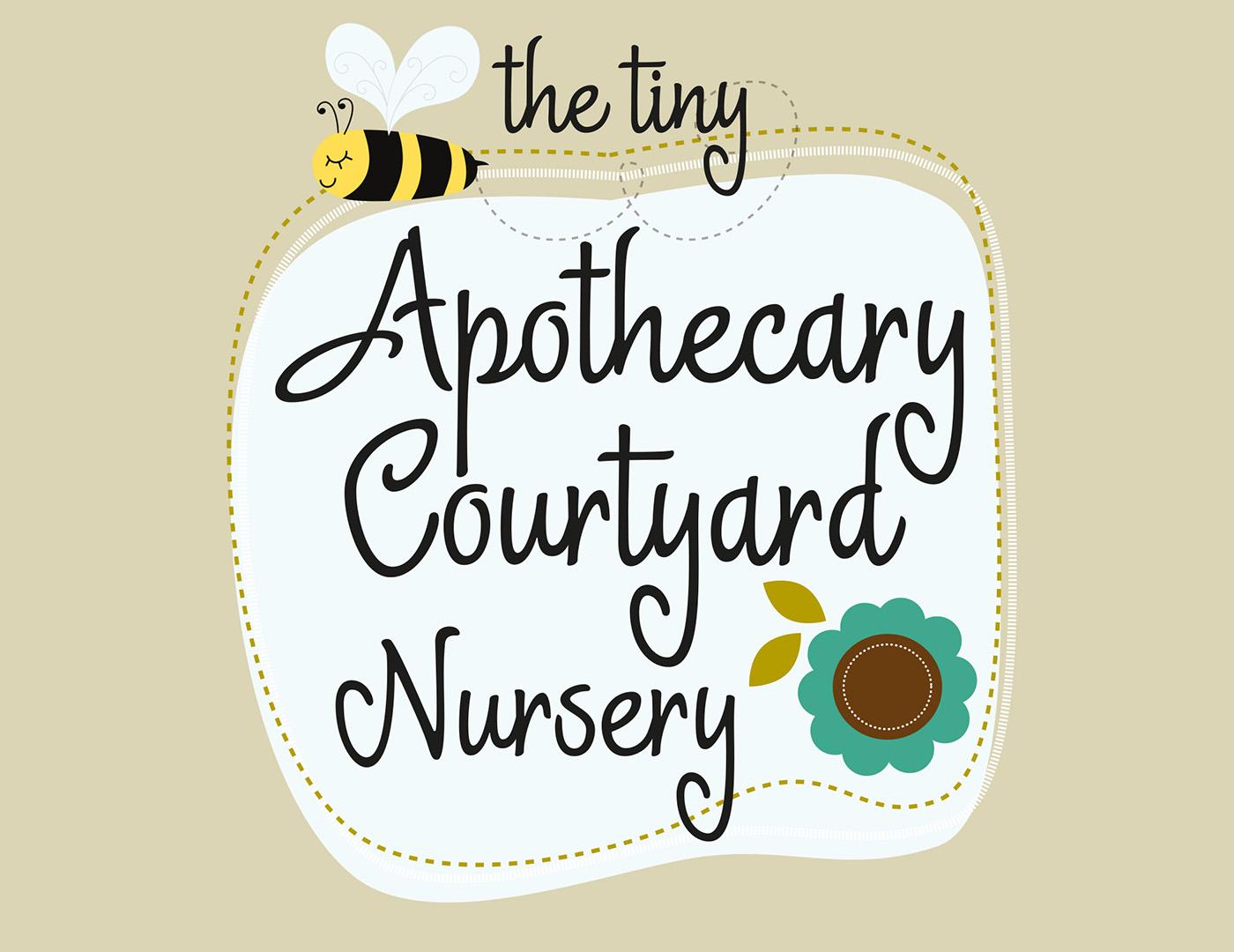 The Tiny Apothecary Nursery Branding + Pavement Signage