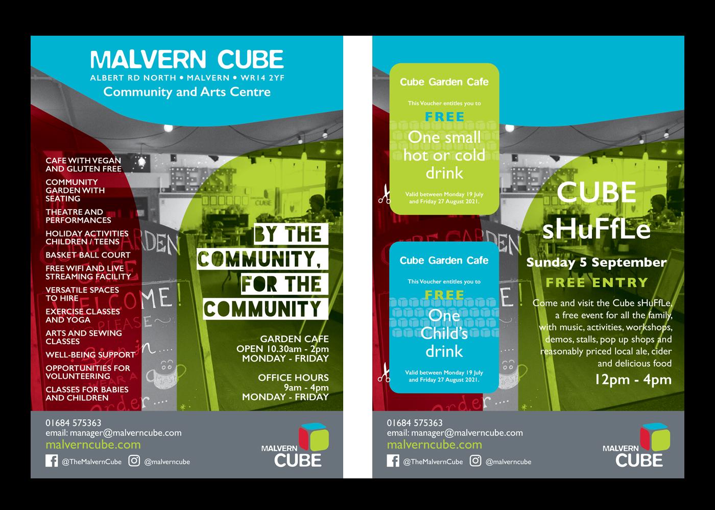 Malvern Cube Leaflet Design & Print